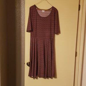 LuLaRoe Nicole dress, 2x